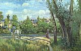 Camille Pissarro Sunlight on the Road Pontoise painting